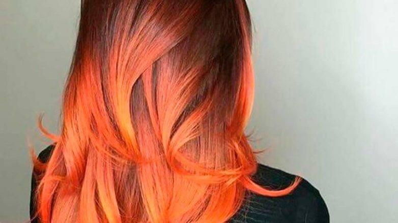 fire ombré hair
