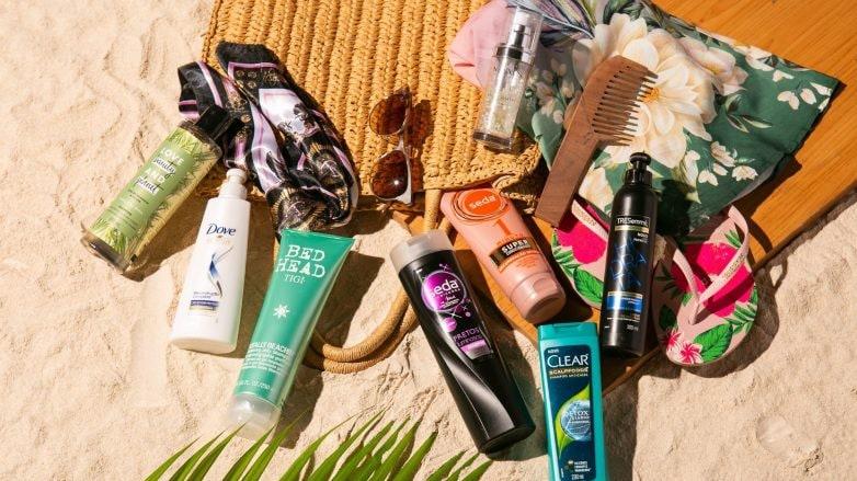 produtos para levar no nécessaire de cabelo no verão