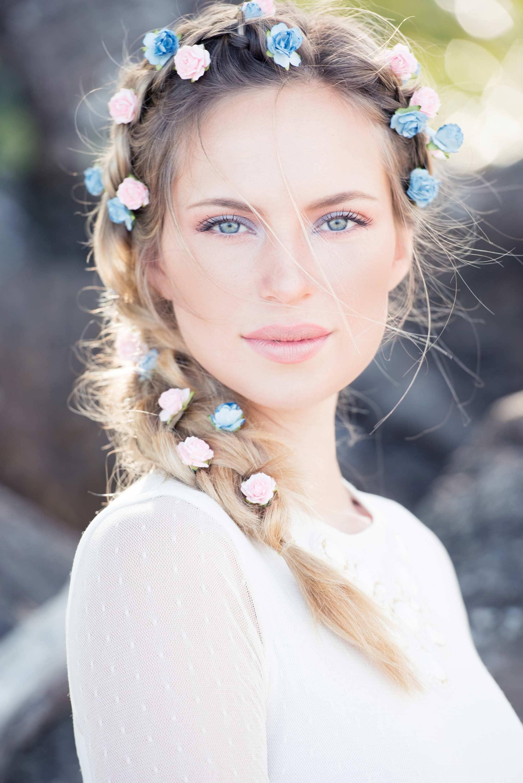 penteados para afinar o rosto da noiva