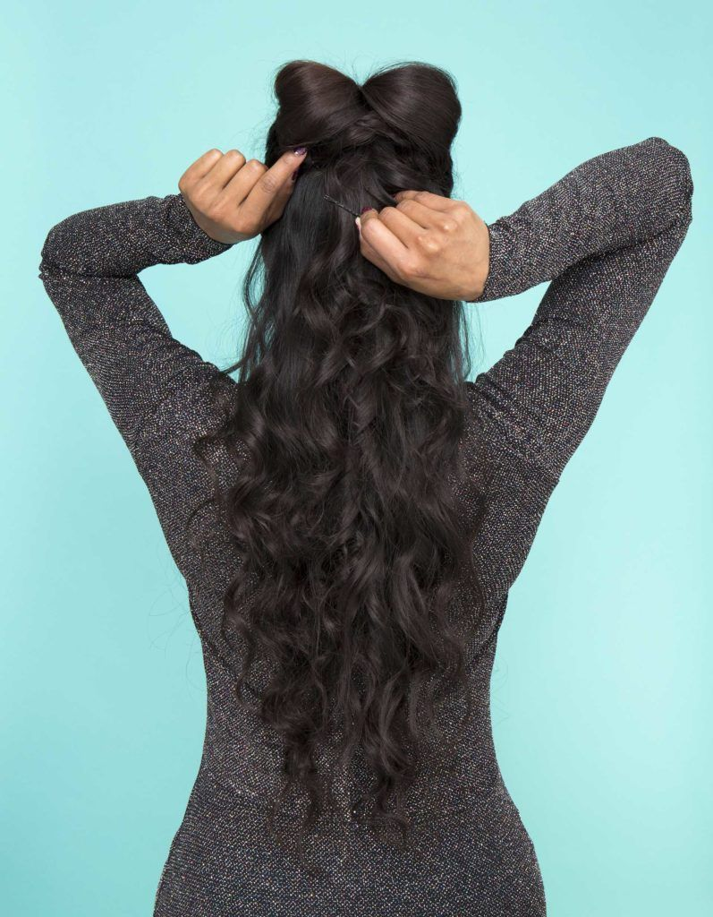 modelo de laço de cabelo meio preso 05
