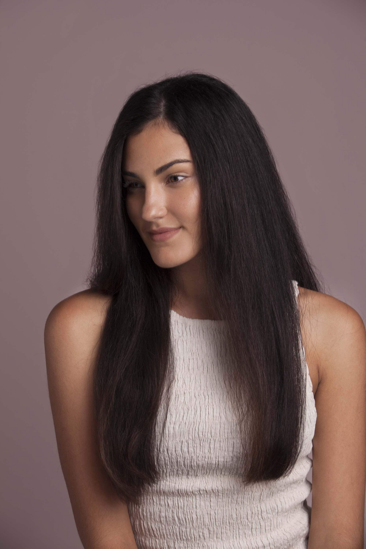 cabelo longo escovado