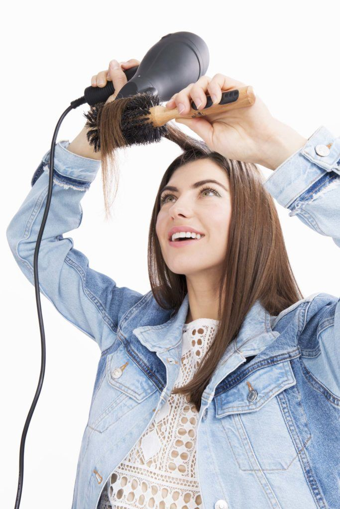 modelo de como arrumar o cabelo com secador