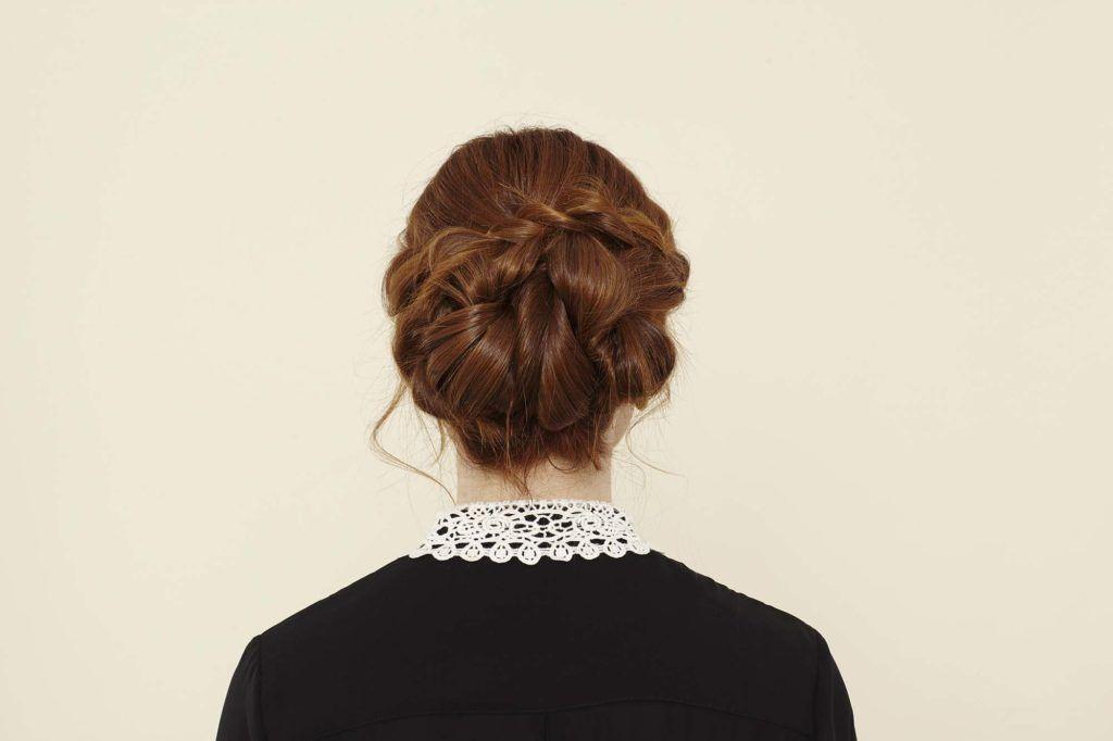modelo de coque torcido