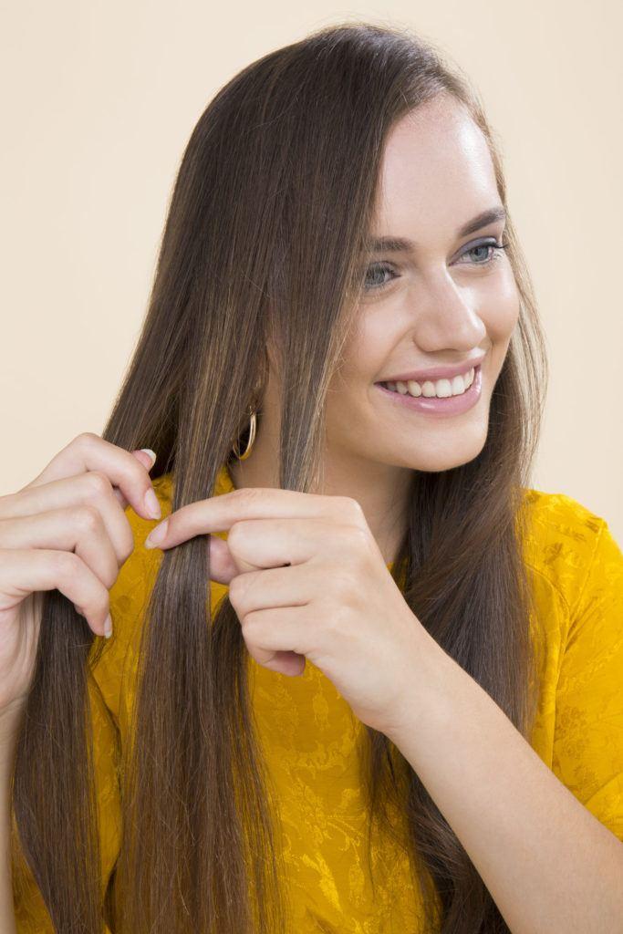 modelo de cabelo ondulado durante a noite passo 2