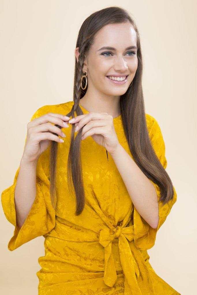 modelo de cabelo ondulado durante a noite passo 3