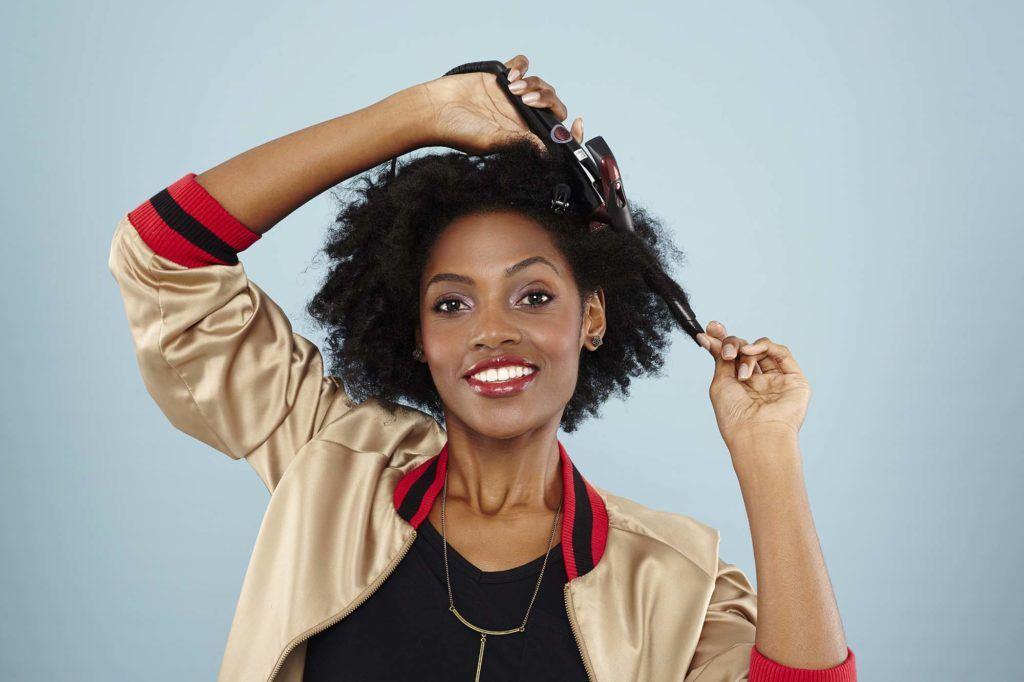 Modelador de cachos para cabelo crespo