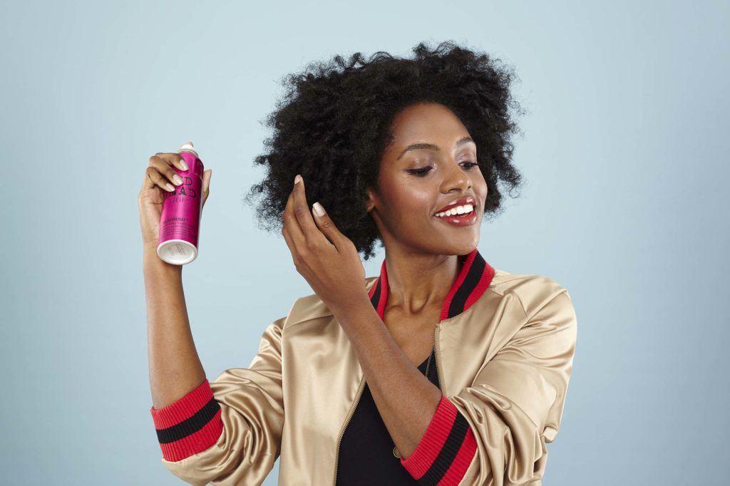 Spray para cabelo crespo