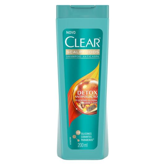 Shampoo Clear Women Anticaspa Detox Antipoluição