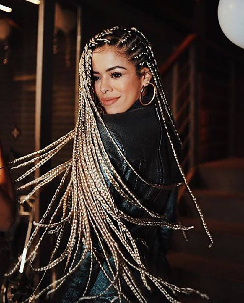 Rayza Nicacio com box braids
