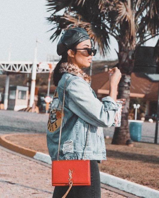 Thalita Ferraz com cabelo curto e boina