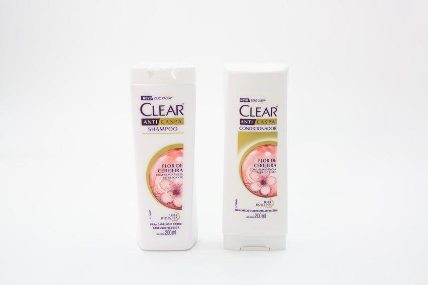 tratamento pontas duplas shampoo e condicionador Clear cerejeira