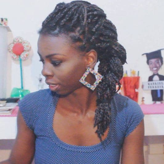 Gabi oliveira com box braids longas