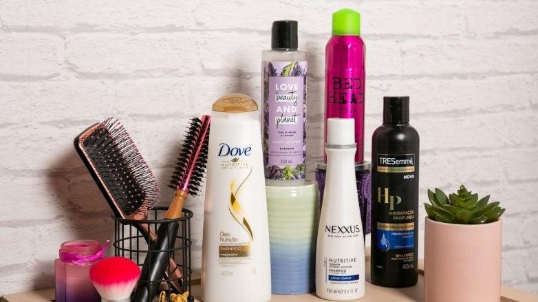 Produtos para cabelo de Dove, Nexxus, TRESemmé, Love Beauty and Planet e Bed Head