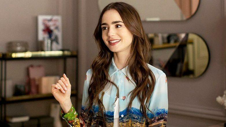 """lily collins como a personagem Emily na série """"Emily em Paris"""""""