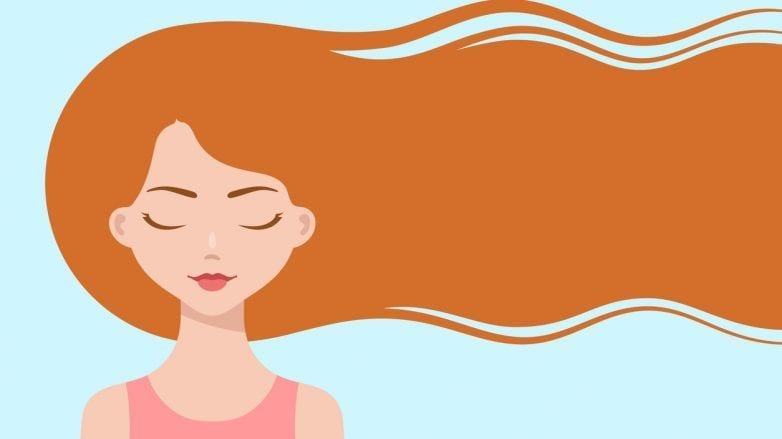 ilustração com mulher de cabelo longo
