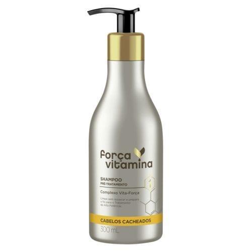 Shampoo Pré-Tratamento Força Vitamina Cabelos Cacheados