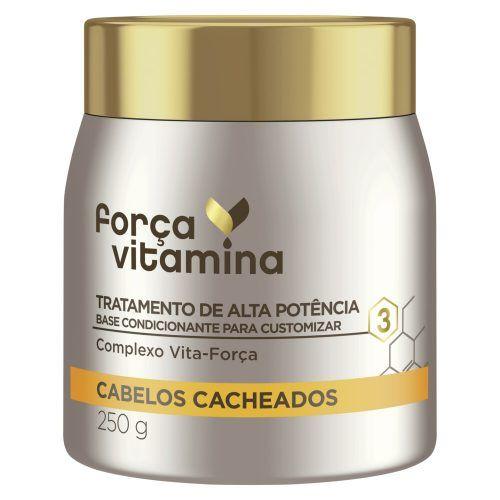 Máscara de Alta Potência para Customizar Força Vitamina Cabelos Cacheados