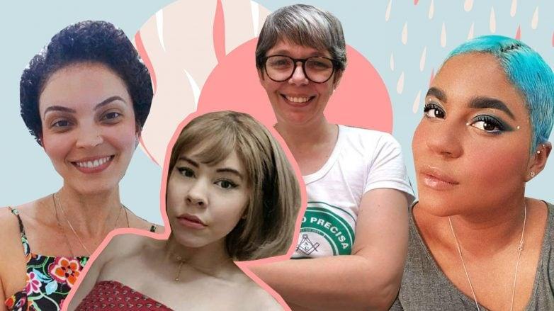 Quatro mulheres que mudaram o cabelo durante a quarentena