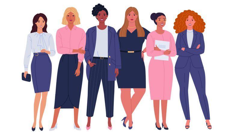 ilustração de mulheres empreendedoras