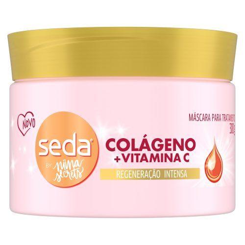 Embalagem da Máscara para Tratamento Seda Colágeno + Vitamina C by Niina Secrets