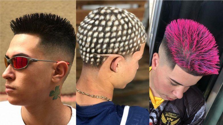 homens com cortes de cabelo chavosos