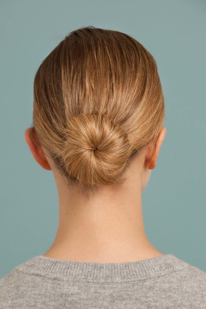 long hairstyles low bun