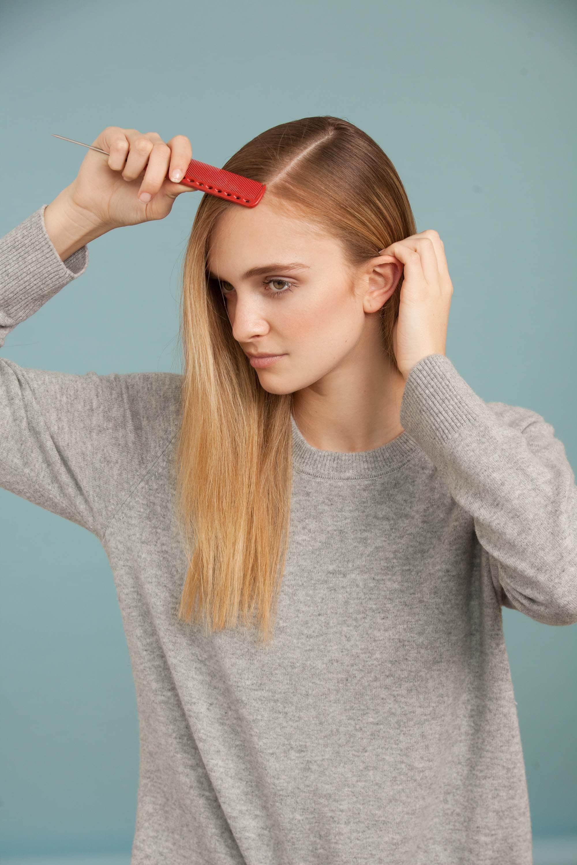ballerina bun tutorial comb hair