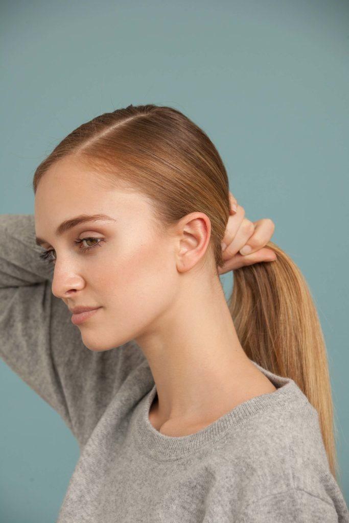 ballerina bun ponytail