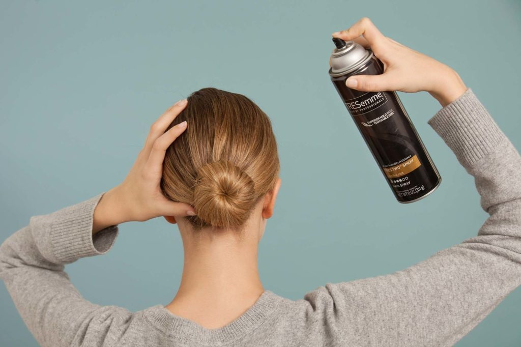 hairspray hold guide bun