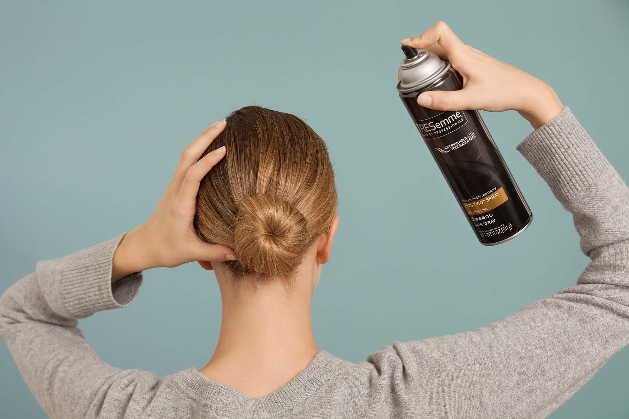 hairspray hold guide bun