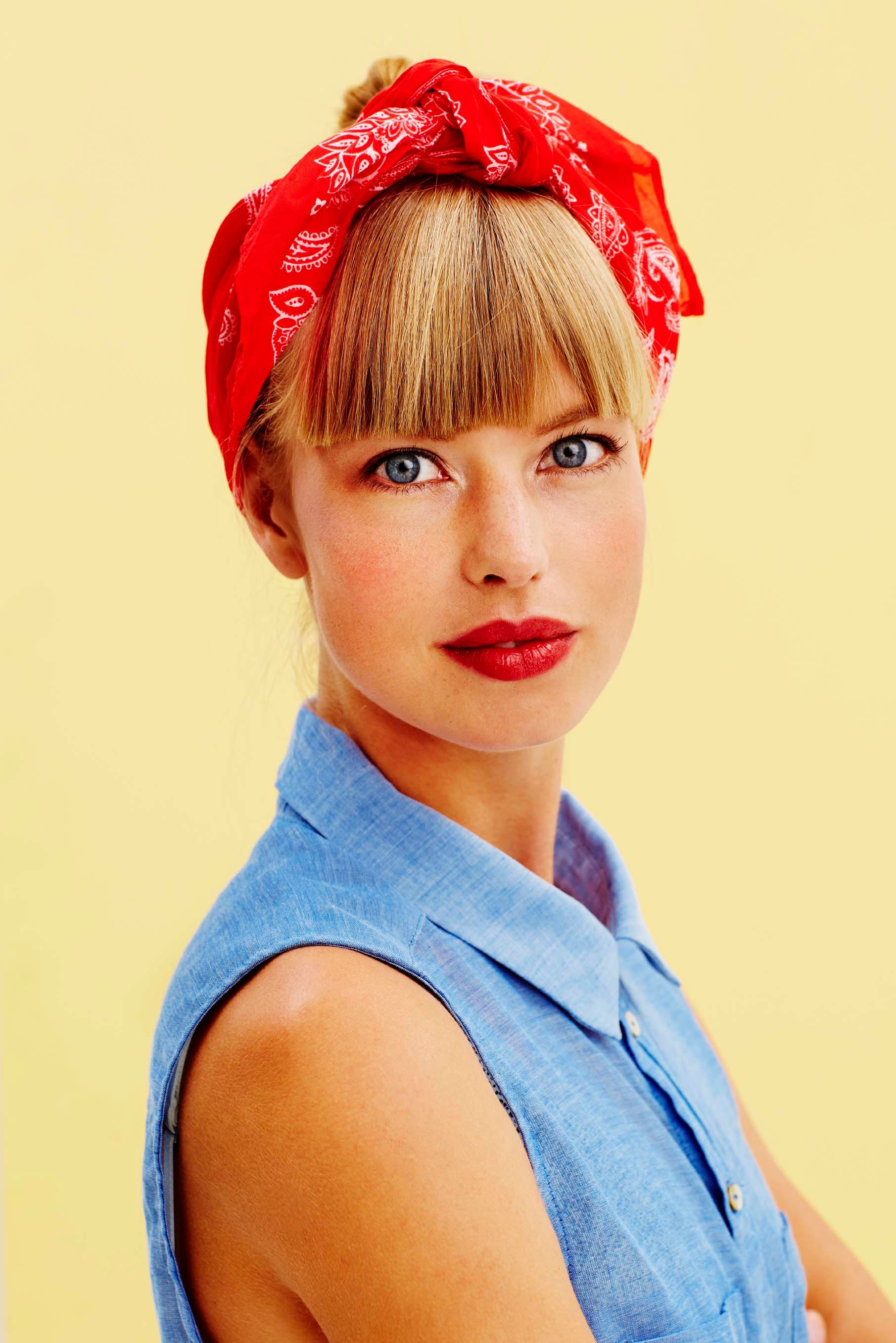 1940s hairstyles red bandana