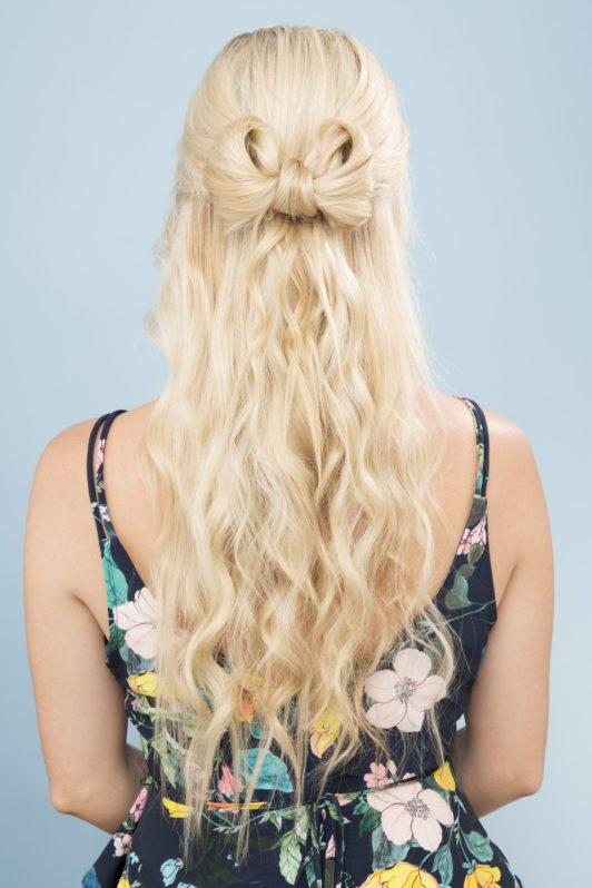 bow braid finished look