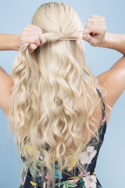 bow braid secure hair tie
