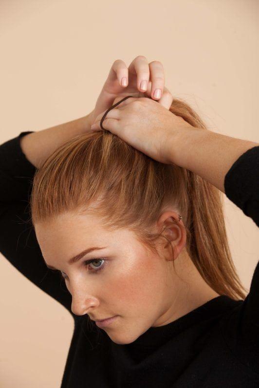 bow bun tutorial ponytail