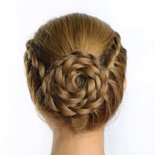 Pleasant Braided Updo 12 Trendy Hairstyles To Try For Work Natural Hairstyles Runnerswayorg