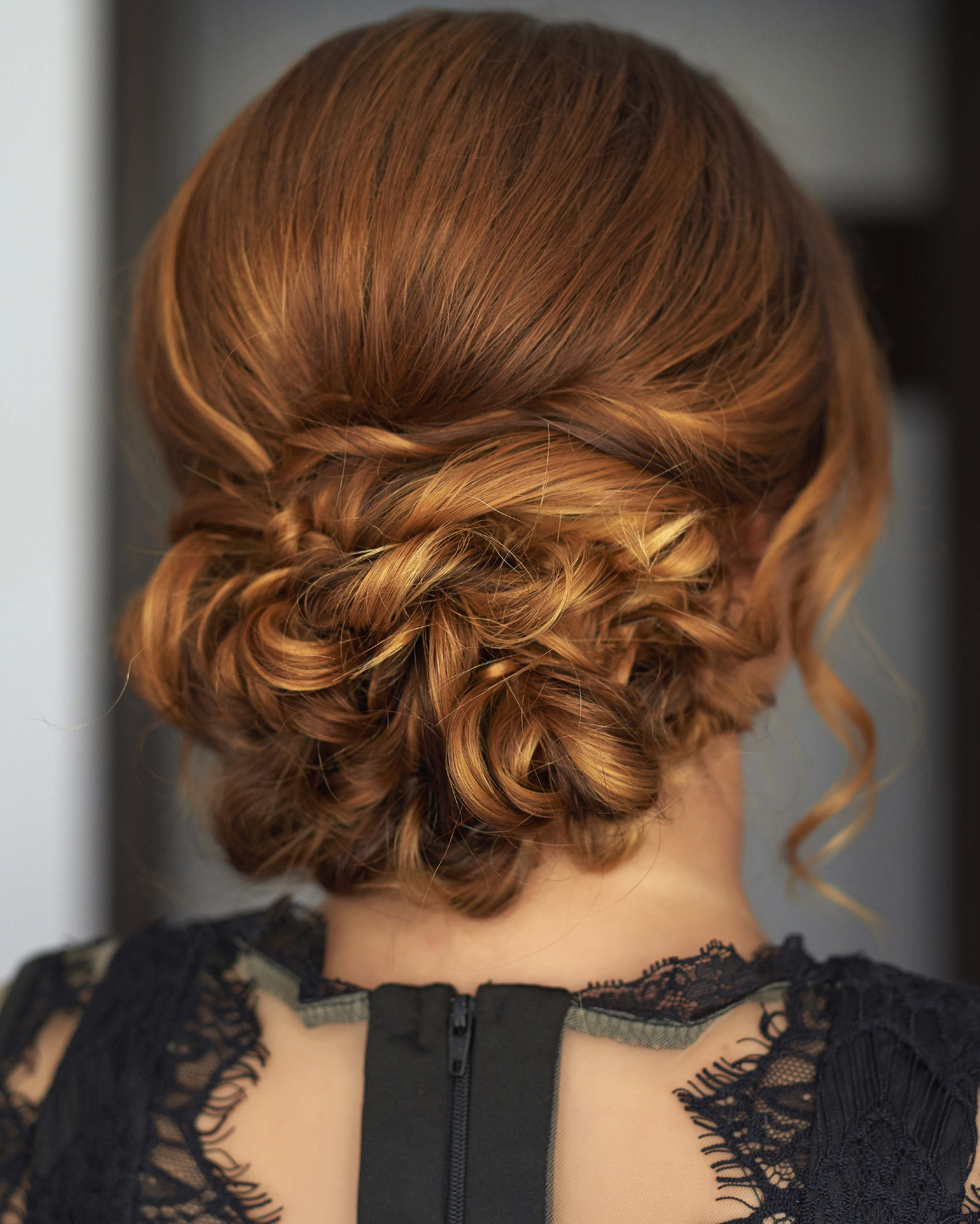 wedding hairstyles for thin hair twisted updo