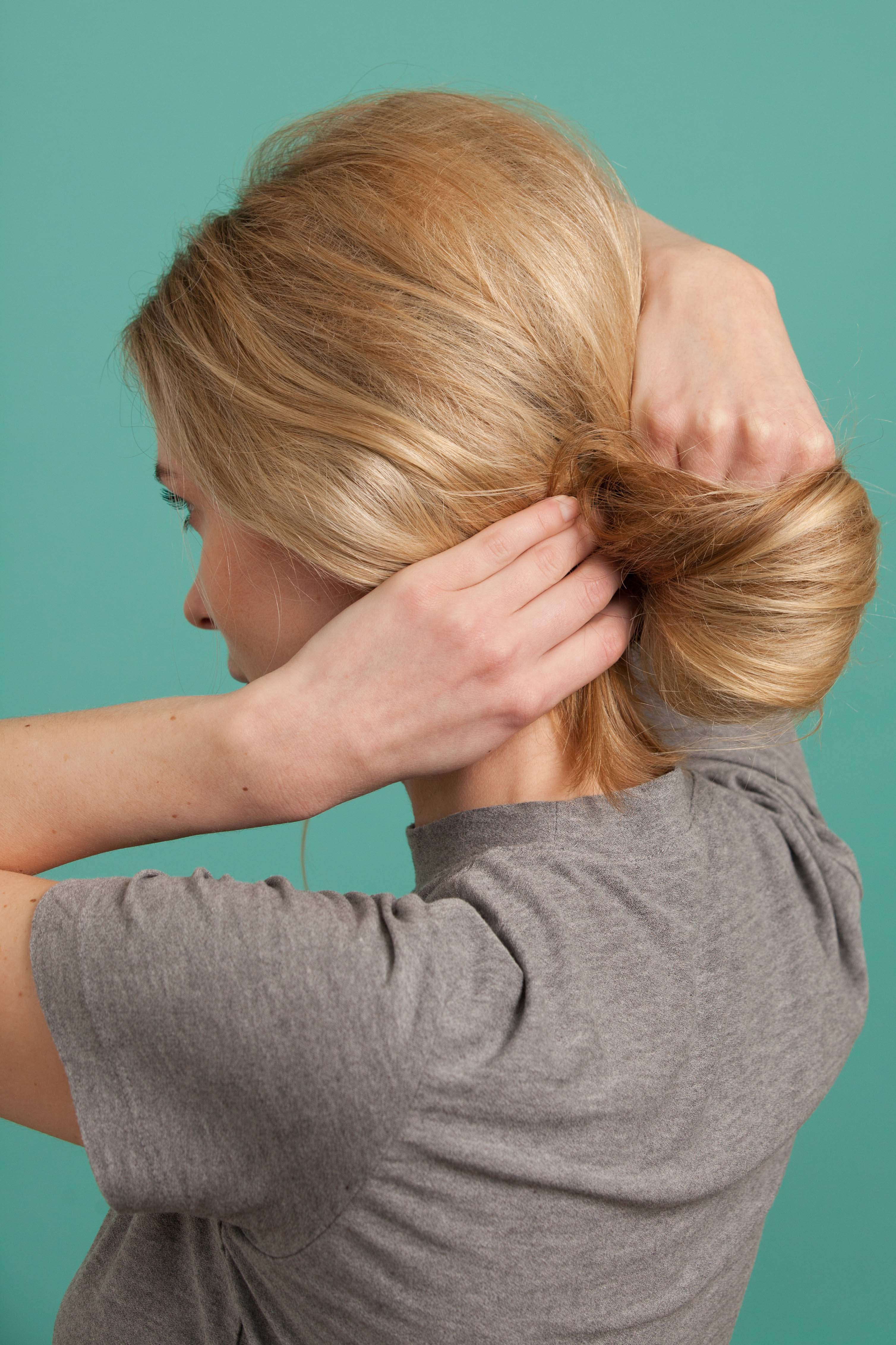 French twist twirl over pins