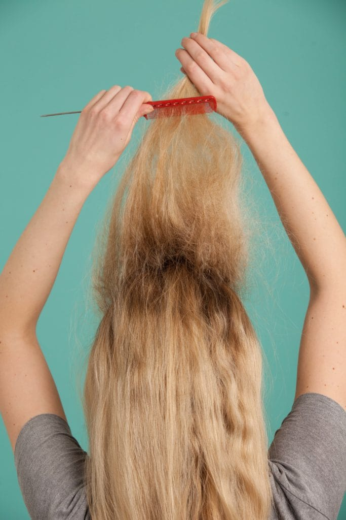 French twist teasing can cause split ends