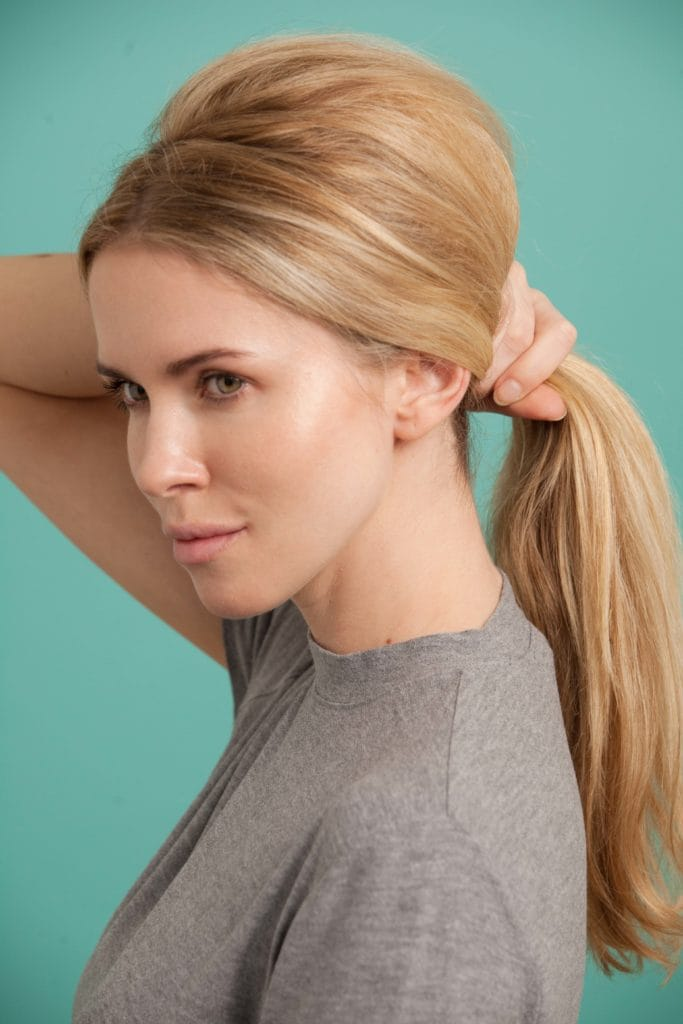 French twist low ponytail base