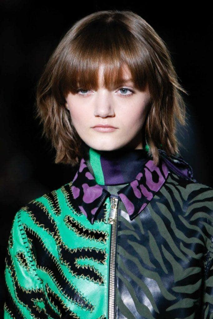 hairstyles for thick hair: choppy layered hair