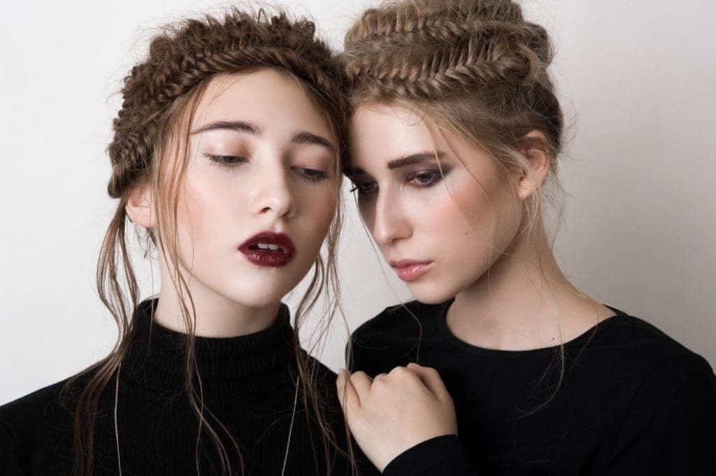 long hairstyles for thin hair: fishtail
