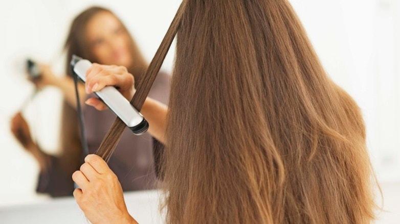 ceramic hair straighteners mirror dark brown