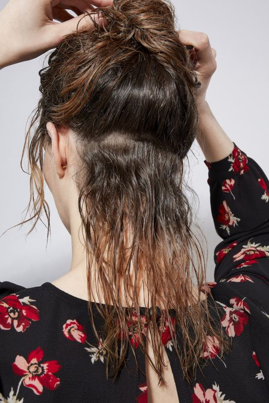 how to blow dry hair section hair