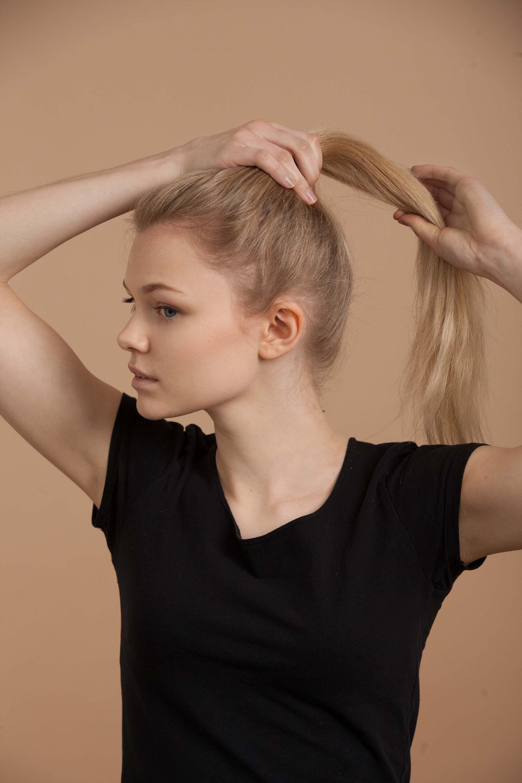 Create high ponytail to start braided bun