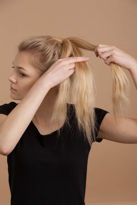 Section hair for braided bun