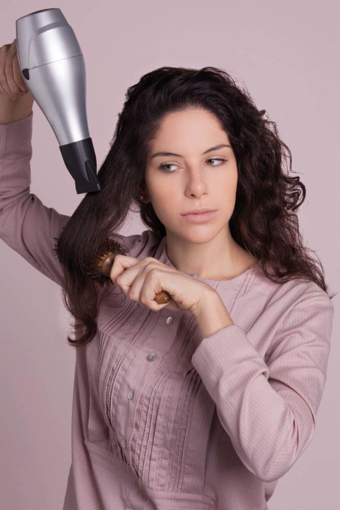 hair problems blow-drying hair