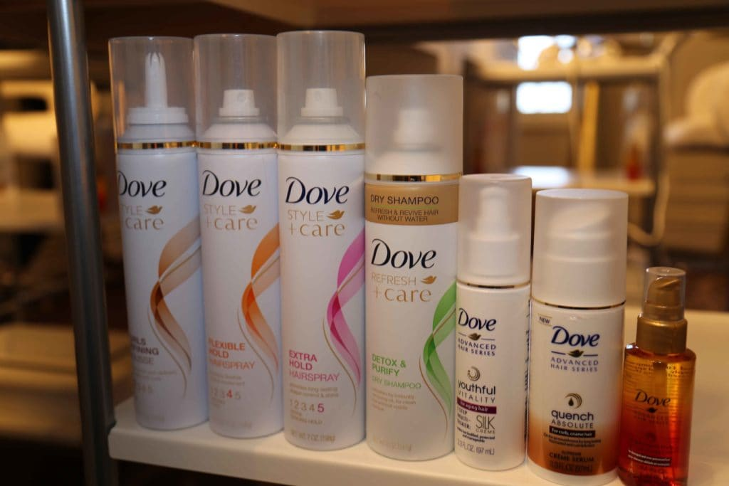 Collection of Dove products