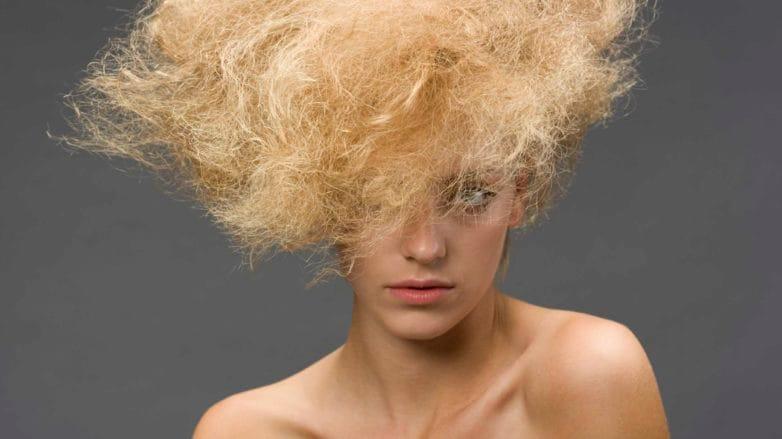 dry damaged blonde hair