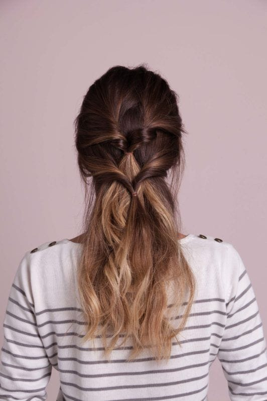 french braid updo inspired look using ponytail twists