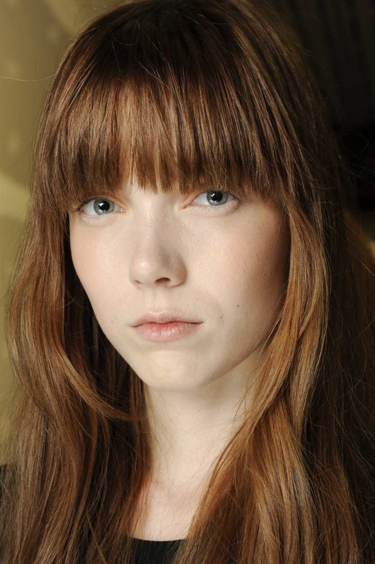 hairstyles for square face: long layers with bangs